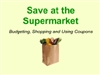 Save at the Supermarket Interactive Whiteboard