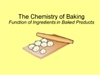 Chemistry of Baking Interactive Whiteboard Lesson
